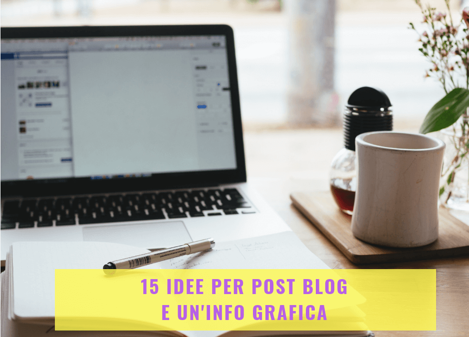 15 idee per post blog e un'info grafica