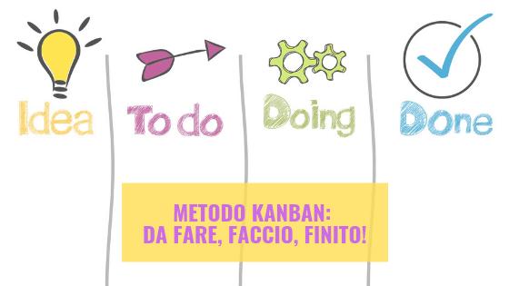 Metodo Kanban: da fare, faccio, finito!